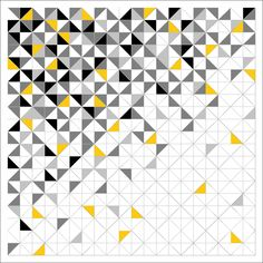 Modern Quilt Blocks, Modern Quilt Patterns, Yellow Quilts, Colorful Quilts, Half Square Triangle Quilts Pattern, Square Quilt, Cute Quilts, Scrappy Quilts, Quilting Projects