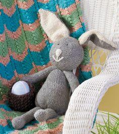 DIY Knit Bunny and Basket