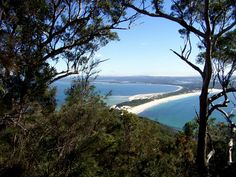 View over Hawks Nest & Tea Gardens, NSW, from Yacaaba - the largest headland of Port Stephens marking the northern entrance to the port. Tasmania, Tea Gardens, Bays, North Coast, Great Barrier Reef, South Wales, Gold Coast, Where To Go, Beautiful Beaches