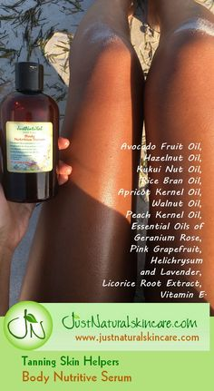 This mixture of 13 different types of oils may also improve your skin's elasti. This mixture of 13 Safe Tanning, Best Tanning Lotion, Tanning Tips, Tanning Bed, Tanning Products, Diy Tanning Oil, Diy Beauty Hacks, Beauty Tips, Beauty Products