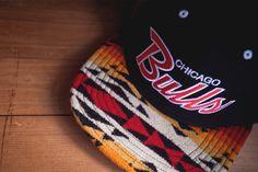 Chicago Bulls Pendelton Snap Back by The Genesis Project showcasing Pendelton Navajo fabrics Native American Print, Native American Fashion, Navajo Fabric, Pendleton Fabric, Nfl Caps, Next Fashion, Men's Fashion, Fashion Blogs, Native Design