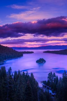 Emerald Bay after sunset - Lake Tahoe, California  ( by Shumon Saito on 500px )