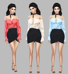 Karma Blouse recolors by Simply Simming for The Sims 4