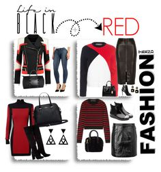 """""""ARS 55: Black & Red"""" by antonroberstyle on Polyvore featuring Balmain, Être Cécile, River Island, Paige Denim, Coach, Burberry, Anouki, Marc by Marc Jacobs, L'Artisan Créateur and Maria Canale"""