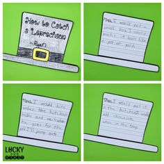 How to Catcha Leprechaun How-To Writing Freebie {Lucky to Be in First}