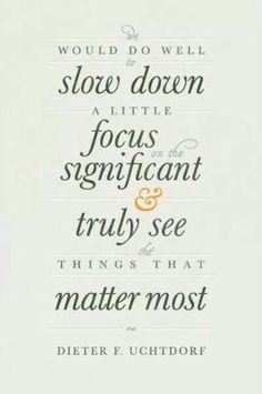 See things that matter most