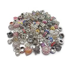 Job Lot Wholesale 100 x Charms Beads For Pandora Style Silver Charm Bracelets Jewellery Making Just 12.5 #Save at least #50%off #sale