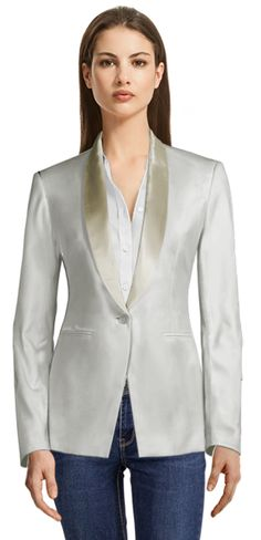 There are many opinions regarding Seersucker suits; some think it's not flattering, which sure, this can be true if you wear the wrong Seersucker suit. We're here to show you how to avoid these problems when wearing the right one. Party Jackets, Custom Made Clothing, Thing 1, Business Casual Dresses, Blazer And Shorts, Casual Blazer, Linen Blazer, Blazers For Women, Lapels