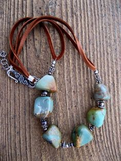 Beaded Jewelry Love this stone! - Free design, beautiful leather jewelry, leather jewelry desings, leather jewelry ideas, cool leather jewelry with you in this photo gallery. Leather Jewelry, Wire Jewelry, Boho Jewelry, Jewelry Crafts, Beaded Jewelry, Jewelery, Jewelry Accessories, Jewelry Necklaces, Fashion Jewelry