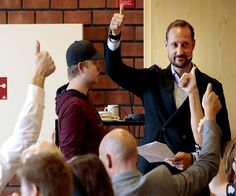 September 28, 2016, Crown Prince Haakon and Crown Princess Mette-Marit of Norway visited Telemark Upper Secondary School
