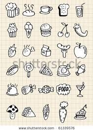 Illustration about Doodle food drink,hand draw,vector illustration. Illustration of beverages, clip, food - 16793972 Doodle Drawings, Easy Drawings, Doodle Art, Doodle Images, Simple Doodles, Cute Doodles, Food Doodles, Doodle Icon, Doodle Lettering