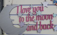 i love you to the moon and back wall hanging...