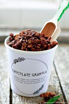 Homemade Chocolate Granola.