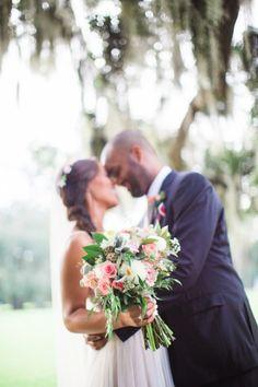 Romantic Pink Wedding at The Mansion on Forsyth Park in Savannah, GA: Tirzah + Doug