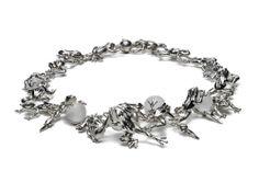 Bibi van der Velden, Polky Diamond Collection, Frog Necklace, 925 silver…