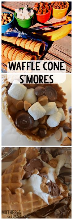 Loaded Waffle Cone S'Mores
