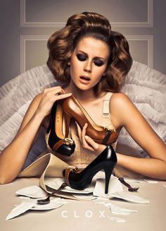 i would totally wear my watch in my shoes... =) Cake Collection, CLOX Shoes Campaign
