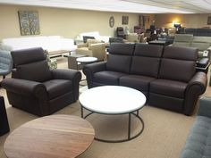 Washington Sofa And Chair By Jaymar. Dark Brown Leather Sofa With Nails. Ellis  Brothers