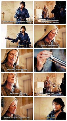 The Musketeers - 1x09 - Knight Takes Queen, best scene. Loves Mother Superior. She's a BAMF! XP