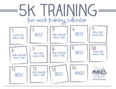 2-week 5k training calendar free download