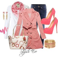 """""""Pink & White Outing"""" by stylisheve on Polyvore"""