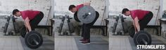 Complete guide to the StrongLifts 5x5 workout thousands of people have used to get stronger, build muscle and burn fat training only three times a week.