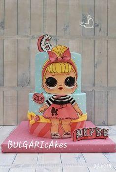 Doll Birthday Cake, Funny Birthday Cakes, 6th Birthday Parties, Birthday Party Decorations, Mini Tortillas, Lol Doll Cake, Surprise Cake, Buy Cake, Disney Princess Birthday