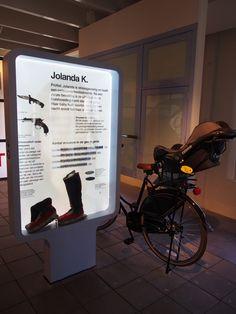 Fiets van Jolanda in het gevangenis Museum Veenhuizen.