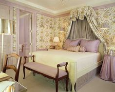 country french bedroom | ... Using Color Complements: Yellow & Purple Modern French Country Bedroom