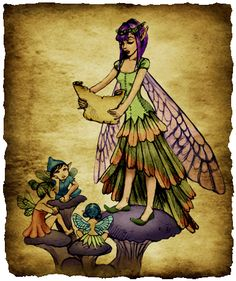 Fairytale Teller    Her name is secret and no one seems to know it. It is said that if her name is revealed, she will lose her voice due to an ancient curse placed on her Tale Teller ancestors. She is only known as the Fairytale Teller, and she teaches the new fairies the ways of fairies through traveling and telling true tales of ancient fairies. Her home is in the woods of Arcadia, but she could be anywhere at any given time, telling fantastic stories of the fairy history.