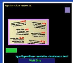 Hypothyroidism Patient Uk 104748 - Hypothyroidism Revolution!