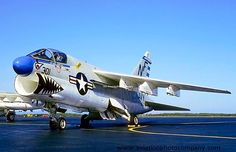 "US Navy VA-93 ""Ravens"" Attack Squadron Chance Vought LTV A-7E Corsair II."