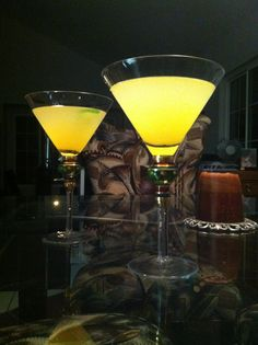 A pair of PollyCatinis. Delish with a kick! Want the recipe?