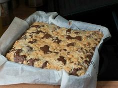 Receta de brownie con crumble de nueces