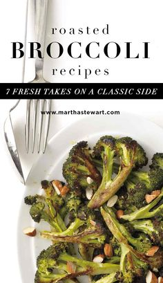 Roasted Broccoli Recipes: 7 Fresh Takes on a Classic Side | Martha Stewart Living - Roasting is a great way to prepare broccoli. The tips of the flowers char lightly while the stems stay nicely crisp. Plus, roasting brings out the sweetness in this favorite nutritious cruciferous vegetable. We've cooked up several recipes for roasted broccoli that use almost every flavor imaginable, including citrusy, nutty, cheesy, and spicy.