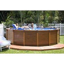 Cool intex pools with decks Intex u x Wood Grain