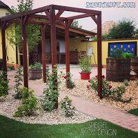 * Csináld magad kertépítés *: Kertépítés ötletek, megoldások Beautiful Gardens, Designer, Pergola, Arch, Outdoor Structures, Home Decor, Tulip, Gardening, Longbow