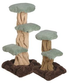 Cat Furniture for Cats of Any Size Diy Cat Tree, Cat Tree Condo, Cat Condo, Tree Furniture, Cat Towers, Unique Cats, Sculpting, Stuffed Mushrooms, Arts And Crafts