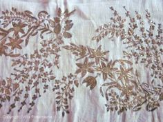 don't you think? Textiles, Costume, Regency, Empire, Women's Fashion, Embroidery, Stitch, Detail, Floral