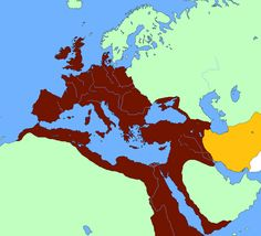 This map shows the Sassanian Empire, which was one of the rival Empires to the Byzantine Empire. After one particular attack in Persia around 533 BCE, the Byzantine began to strengthen the borders to throughly protect their empire.