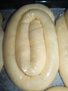 Ovako me je naucila mama :-) Burek Recipe, Butter Croissant, Sausage, Banana, Fruit, Nova, The Fruit, Bananas, Sausages