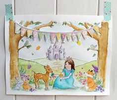 Bespoke original painting sketched and painted by LilyandtheBears