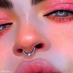 Marvelous Draw, Shade Realistic Eyes, Nose and Lips with Graphite Pencils Ideas. More About Draw, Shade Realistic Eyes, Nose and Lips with Graphite Pencils Ideas. Digital Art Girl, Digital Portrait, Portrait Art, Portraits, Girly Drawings, Realistic Drawings, Art Drawings, Makeup Set, Easy Makeup