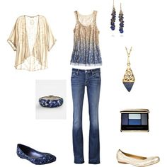Girls night out outfit (in Penn State colors!)