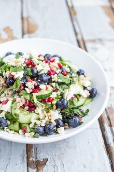 Barley Salad with Pomegranate, Blueberries