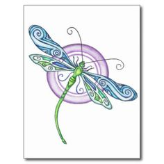 Whimsical Dragonfly Square Sticker x by EverIris - CafePress Dragonfly Drawing, Dragonfly Images, Dragonfly Painting, Dragonfly Wall Art, Dragonfly Tattoo Design, Dot Painting, Tattoo Designs, Dragonfly Clipart, Butterfly Dragon