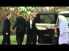 Visite de Michelle et Barack Obama chez la reine Elizabeth II au château...