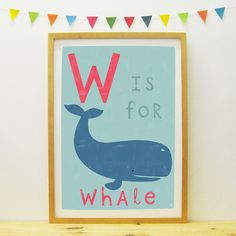 Whale poster/print | Paper Penknife