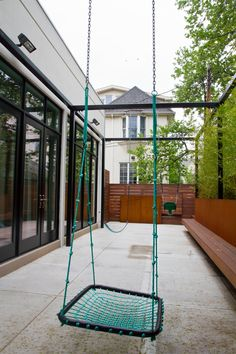 Pergola with swings Brooklyn backyard Pergola Swing, Porch Swing, Brooklyn Backyard, Swings, Outdoor Furniture, Outdoor Decor, Home Decor, Lawn And Garden, Decoration Home