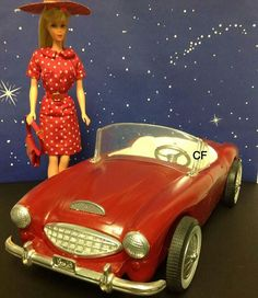 Barbie's Austin-Healy in Red, 1960's